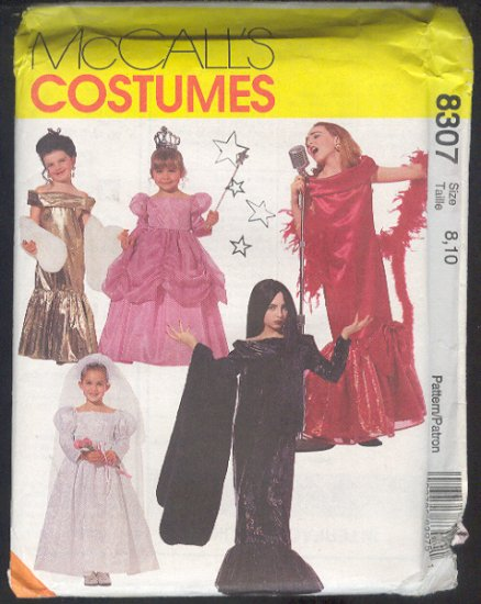 McCall's Sewing Pattern 8307 Girl Diva Costumes, Size 8 10