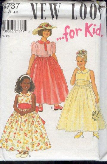 New Look Sewing Pattern 6737 Girl's Fancy Dress, Size 4 - 9