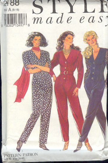 Style Sewing Pattern, 2188 Jumpsuit, Size 8 - 18
