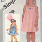 Simpliicty Sewing Pattern 5504 Sweet Dress, Child Size 4