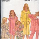 Simplicity Sewingi Pattern Gown, Jams and Robe, Size 3 4 5 6