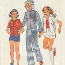 Simplicity Sewing Pattern 6913 Girls Hoody, Pants and Shorts, Size 12