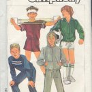Simplicity Sewing Pattern, Boys Hoody, Top, Pants and Shorts, Size 8 10 12