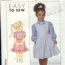 Simplicity Sewing Pattern 9282 Girl's Blouse and Jumper, Size 3-6