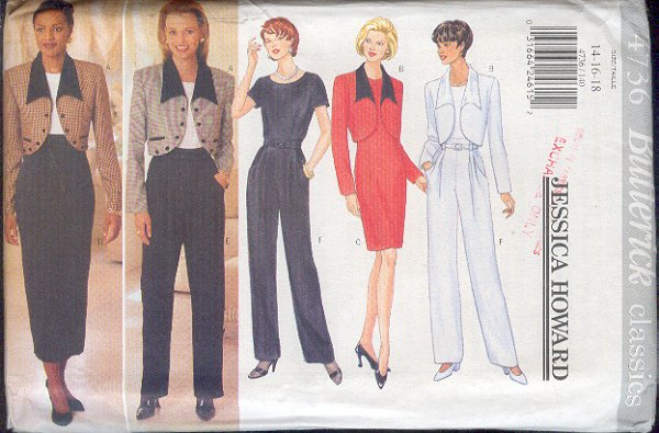 Butterick Sewing Pattern 4736 Balero Jacket, Dress by Jessica Howard, Size 14 - 18