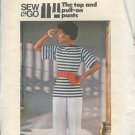 Butterick Sewing Pattern 4765 Tunic top and wideleg pand, Size 12-14