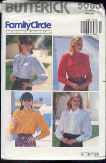 Buttreick Sewing Pattern 5060 Classic Woman's Shirt, Size 6 8 10