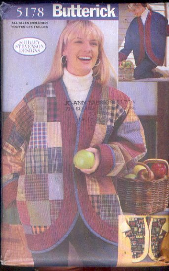 utterick Sewing Pattern 5178, Oversized Patchwork Jacket, Size 8-22