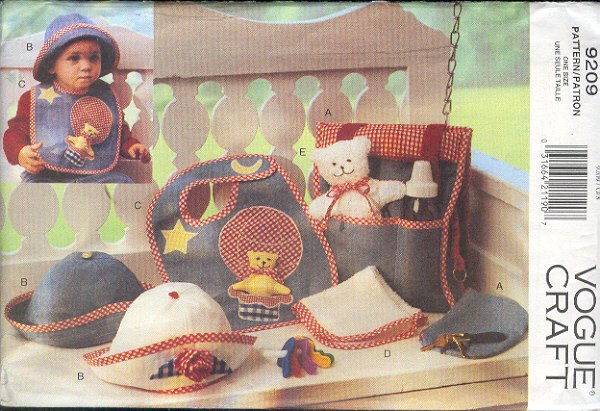 Vogue Sewing Pattern 9209, Baby Accessories, One Size