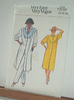 Vogue Sewing Pattern 9332 Duster Dress size 14 16 18