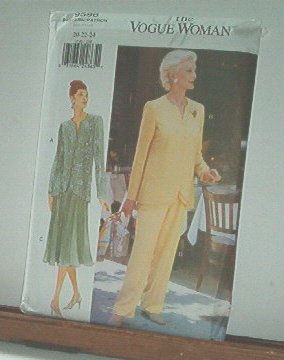 Vogue Sewing Pattern 9596 Jacket/Tunic, Pants and flaired skirt, Size 20 22 24