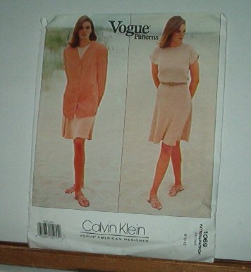 Vogue Sewing Pattern 1069 Calvin Klein Dress and Jacket Size 8 10 12