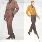 Vogue Sewing Pattern 1226 Yves Saint Laurent Jacket and Pants, Size 8 10 12
