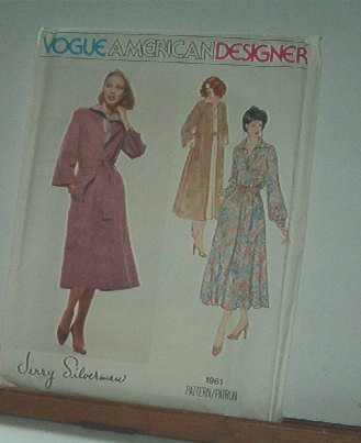 Vogue Sewing Pattern 1961 Belted Coat, suitable for Ultra Suede, by Jerry ilverman, size 10