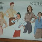 Vogue Sewing Pattern 2488 Blouse with Five Neckline Details, Size 8 10 12