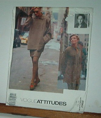 Vogue Sewing Pattern 2563 by Carmelo Pomodoro, Big Shirt, Jacket and skirt, Size 6-10