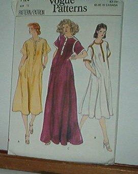 Vogue Pattern 7124  Big Dress. Lounge wear and maternity, Size 12