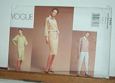 Vogue Sewing Pattern 7411 Skirt, Dress, Top and Pants, Size 8 10 12
