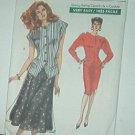 Vogue Sewing Pattern 7497 Jacket with two styles and straight a flaired skirt, Size 8 10 12