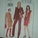 Vogue Sewing Patterns 7502 Jacket, Vest, Pants and Skirt, Size 8 10 12
