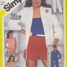 Simplicity Sewing Pattern 5551 Drawstring jacket, swim suit, top, shorts and pants, Size 12