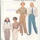 Simplicity Sewing Pattern 6990 Pleated Pants, Size 14