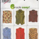 Simplicity Sewing Pattern 7376 Vest, six variations, Sizes 12 - 16