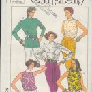 Simplicity Sewing Pattern 7497 Five Blouses, Sizes 6 8 10