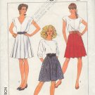 Simplicity Sewing Pattern 8439 Skirt with various pleats, Size 6