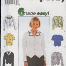 Simplicity Sewing Pattern, Wesket Blouse with variety of collars, Size 8 10 12