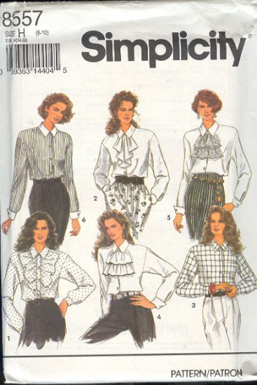 Simplicity Sewing Pattern 8557 Six Blouses, Size 8 - 10