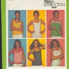 Simplicity Sewing Pattern 9035, Six summer stretch knit stops, Size 14