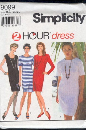 Simplicity Sewing Pattern 9099 Dress, four versions, Size 6-16