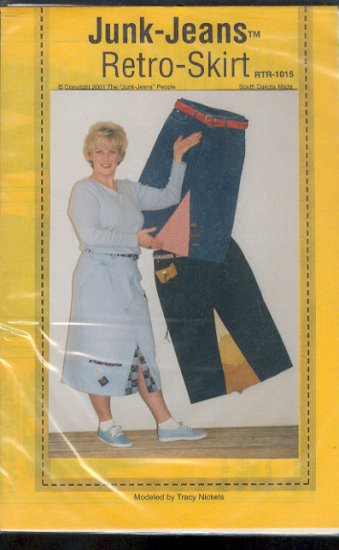 Sewing Pattern, Junk-Jeans, Retro Skirt, Requires one pair of jeans that fit you.