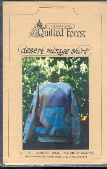 Sewing Pattern Quilted Forest, Desert Mirage Short, Size 6-20