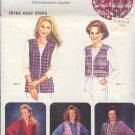 Sewing Pattern Pin Weaving Vest, Size 37 - 47 bust, three styles