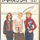Sewing Pattern Patches of Joy 800 Laurie Vest, Sizes Petite to Large