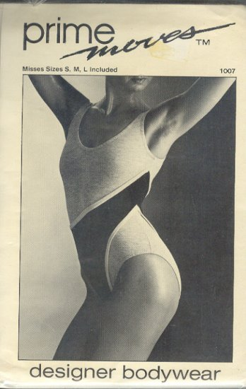 Sewing Pattern Prime Moves 1007, Dance Leotard, Sizes S M L