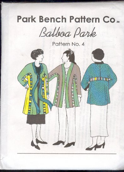 "Sewing Pattern, Park Bench Pattern Co., alboa Park #4, Two jackets, Size 48"" bust"