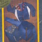 Sewing Pattern Junk-Jeans, Upside Down Jacket, Takes a few pair of old jeans, Sizes 32-51 bust