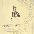 Sewing Pattern, by Virginia Robertson, Quilted Vest, Sizes S M L