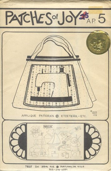 Sewing Pattern, Patches of Joy, Sewing Tote, One Size