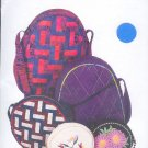 Sewing Pattern, Ghee's 791 Roundabout Handbags, 8, 9 and 12 inches