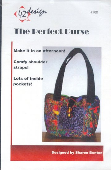 Sewing Pattern, 42 Design, 100, The Perfect Purse by Sharon Benton, Size 11 X 15 inches