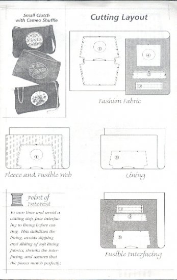 Sewing Pattern,  Ghee's , Small Clutch Purse, 9 X 6 inches