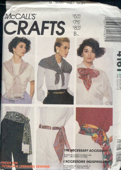 McCall's Sewing Pattern, Scarbes, One Size