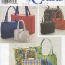 Simpliicty Sewing Pattery 8331, Six bags and totes, one size each