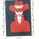 Sewing Pattern, Ultra Delight Applique'  Cowgirl, One size