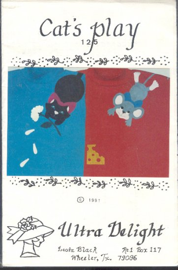 Sewing Pattern, Ultra Delight Applique, Cat's Play, One Size