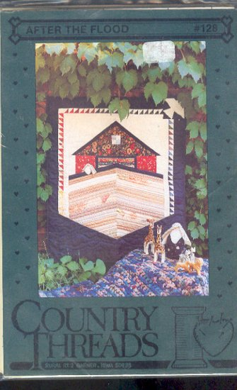 Sewing Pattern, Country Threads, After the Flood hanging quilt, 36 X 48 inches
